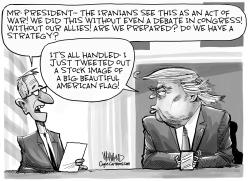 US strike angers Iran by Dave Whamond