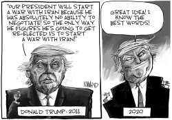 War With Iran by Dave Whamond
