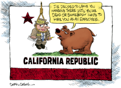 California Threatens Journalism by Daryl Cagle