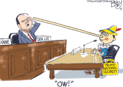 Mike Lee Poked by Pat Bagley