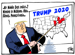 Trump Middle East policy 2020 by Tom Janssen