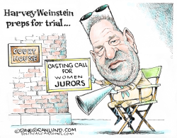 Weinstein trial prep by Dave Granlund