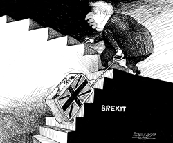 Boris Johnson a few more steps by Petar Pismestrovic