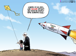 Iran Missile by Nate Beeler