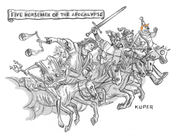 Five Horsemen of the Apocalypse by Peter Kuper