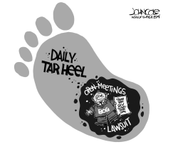 LOCAL NC Daily Tar Heel lawsuit by John Cole