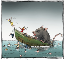 sinking ship by Joep Bertrams