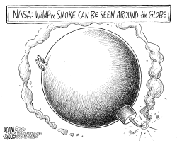 The smoke by Adam Zyglis