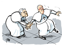two popes by Tom Janssen