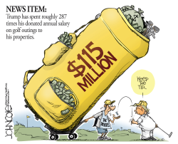 Trump golf costs vs salary by John Cole