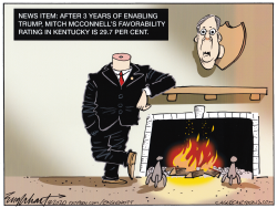 Mitch McConnell Trophy by Bob Englehart