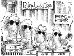 Blind justice by John Darkow