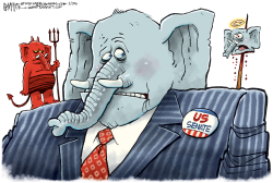 GOP Head On A Pike by Rick McKee