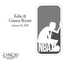 Kobe and Gianna Bryant by John Cole