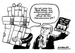 Trump Mideast Peace Plan by Jimmy Margulies