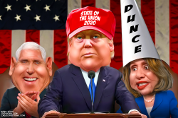 State of the Union 2020 Dunce by Bart van Leeuwen