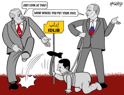 Erdogan and Putin in Idlib by Rainer Hachfeld