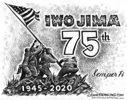 Iwo Jima 75th by Dave Granlund