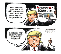 Trump Acquittal Response by Jimmy Margulies