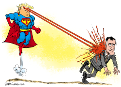 Super Trump and Romney by Daryl Cagle