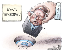 Sanders Doesnt Fit by Adam Zyglis