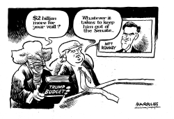 Trump and Romney by Jimmy Margulies