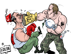 Putin vs Erdogan by Emad Hajjaj