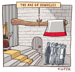 Axe of Donacles by Peter Kuper