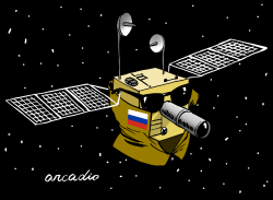 Russian spy satellite by Arcadio Esquivel