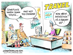 Antarctica warm temps by Dave Granlund