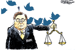 Tweets and Barr by Jeff Koterba