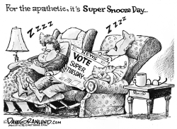 Super Tuesday apathy by Dave Granlund