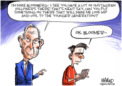 Bloomberg wants young voters by any memes possible by Dave Whamond
