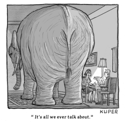 Elephant In The Room by Peter Kuper