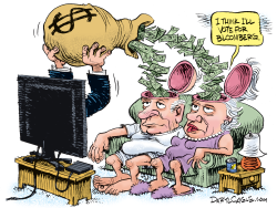 Bloomberg TV Spending by Daryl Cagle