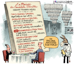 Democrats Menu by Rick McKee