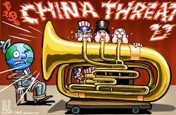 West Trumpets China Threat by Luojie