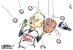 Manfred Drops the Ball by Jeff Koterba