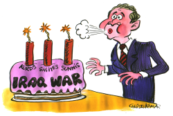 Iraq War Anniversary -  by Christo Komarnitski