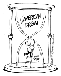 Immigrant Clock by Arcadio Esquivel