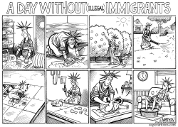 A Day Without Immigrants by RJ Matson