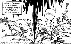 Ayuda para Darfur by Mike Keefe