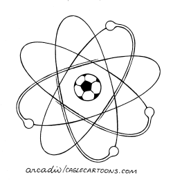 Atomic soccer by Arcadio Esquivel