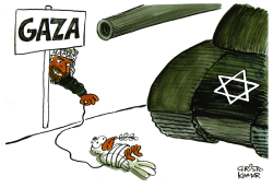 Israel moves on Gaza -  by Christo Komarnitski
