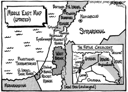 Mideast Map Updated by John Trever