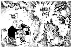 Big Oil Box Seat to War by Mike Lane