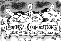 Pirates of the Corporation by Pat Bagley