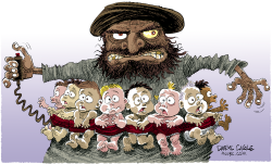 Hezbollah and Babies  by Daryl Cagle