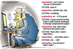 Foley and the GOP -- color by John Cole