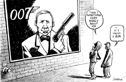 THE NEW JAMES BOND by Patrick Chappatte